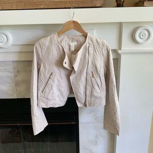 H&M Tan Cropped Women's Jacket Size 4